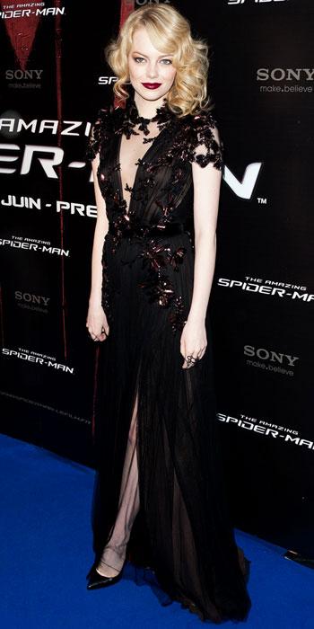 Emma Stone Knee Length Dress